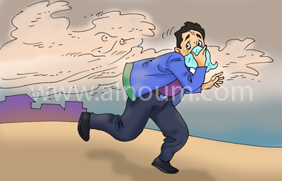Sand Storm and Asthma